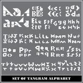 Letras del alfabeto Tangram — Vector de stock
