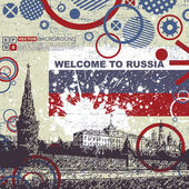 Grunge background with Kremlin — Vector de stock