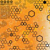 科学 grunge 背景 — 图库矢量图片