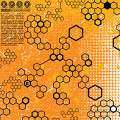 Fond grunge science — Vecteur