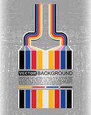 Grunge kleurrijke barcode achtergrond - vector — Stockvector