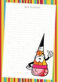 Komik karikatür cetvel üzerinde beyaz kağıt - vektör — Stok Vektör