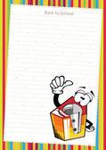 Regla de la historieta divertida sobre papel blanco - vector — Vector de stock