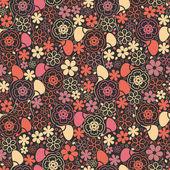 カラフルな葉 - シームレスなパターン — ストックベクタ