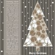 New year card with tree — Image vectorielle