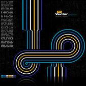 Fondo colorido grunge retro - vector — Vector de stock