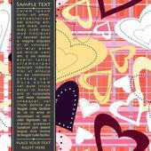 πρότυπο κάρτες για δώρα και καρτ-ποστάλ, εικονογράφηση φορέας — 图库矢量图片