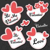 Sevgililer günü kartı — Stok Vektör
