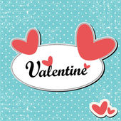 Valentin-Tageskarte — Stockvektor