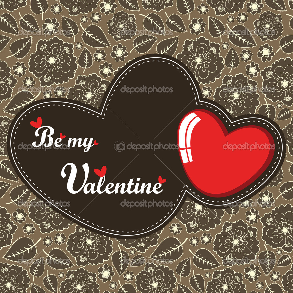 Valentine Day card  Stock Vector #11010311