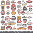 Premium quality and guarantee label collection — Vector de stock #11023928