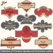 Premium quality and guarantee label collection — Stock Vector #11024143