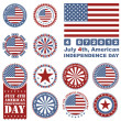 Independence Day- 4 of July - Retro grunge barcode background — Stock Vector #11026524
