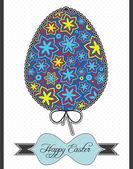 Easter eggs postcard — Stock Vector