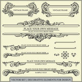 Vector set: calligraphic design elements and page decoration - lots of useful elements to embellish your layout — Vettoriale Stock