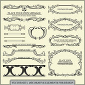 Vector set: calligraphic design elements and page decoration - lots of useful elements to embellish your layout — 图库矢量图片