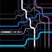 Grunge färgglada barcode bakgrund - vektor — Stockvektor