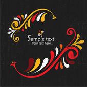 винтажная открытка с цветочными элементами — Cтоковый вектор