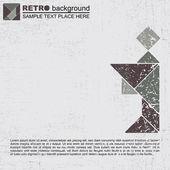 Grunge tangram — Stock Vector