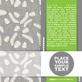 Template cards for gifts and postcards, vector illustration — Stockvektor