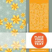 Hediyeler ve kartpostallar, vektör çizim için şablon kartları — Stok Vektör