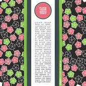 テンプレート カード ベクトル イラスト ・ ポストカード プレゼント — ストックベクタ