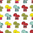 Vector de stock : Set of twelve monsters