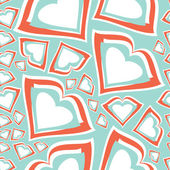 Valentine day - seamless pattern — Stock Vector