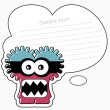 Funny picture with monster - Stock Vector