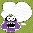 Funny picture with monster — Imagen vectorial