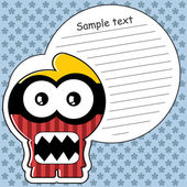 Funny picture with monster — Stock Vector