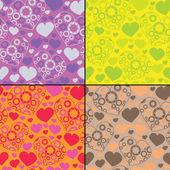 набор из четырех красочные декоративные элементы - бесшовный фон — Cтоковый вектор