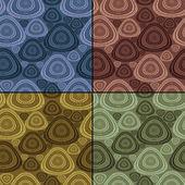 Satz von vier bunte dekorative elemente - nahtlose muster — Stockvektor