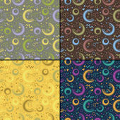 四个多彩装饰元素-无缝图案集 — 图库矢量图片