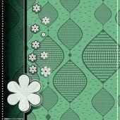 Tarjeta con elementos decorativos — Vector de stock