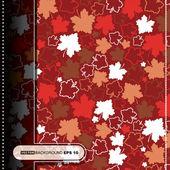 Karta z kolorowych liści — Wektor stockowy