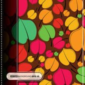 Colorful leafs - seamless pattern — Vecteur