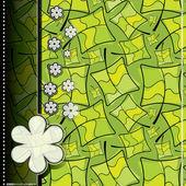Κάρτα με πράσινα φύλλα — Διανυσματικό Αρχείο