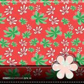 七彩鲜花-无缝模式 — 图库矢量图片
