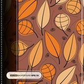 Coloridas hojas - patrón sin costuras — Vector de stock