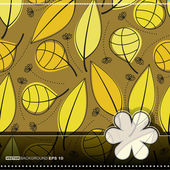 Colorful leaves -seamless pattern — Vector de stock