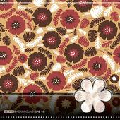 Kleurrijke bladeren en bloemen - naadloze patroon — Stockvector