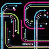 Abstratas setas coloridas sobre fundo grunge — Vetorial Stock