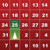 メリー クリスマス カード — ストックベクタ