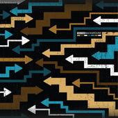 абстрактный красочные стрелки на гранж-фон — Cтоковый вектор