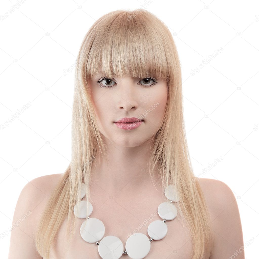 Beautiful blonde young woman studio portrait — Stock Photo #11921749