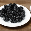 Blackberries in bowl — Stock Photo