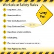 Stock Vector: Workplace Safety Rules