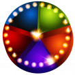 Theatrical Lights Pie Chart - Image vectorielle