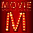 Theatrical Lights MovieText - Image vectorielle